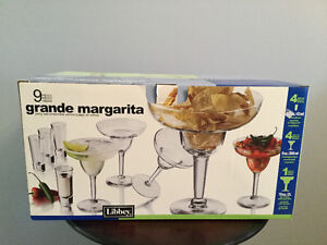 9 Piece Grande Margarita Party Set by Libbey Glass