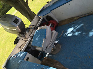 Boat with 25hp Johnson outboard motor London Ontario image 5