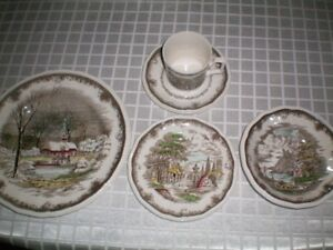 Vintage/Rare Set of Dishes  Service for 8