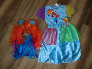 My little pony size 7/8 costume with wig