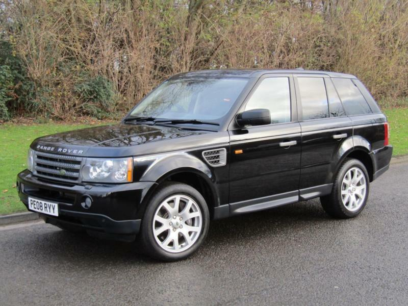 2008 land rover range rover sport 2 7td v6 hse auto 5 door diesel 4x4 black in hexham. Black Bedroom Furniture Sets. Home Design Ideas