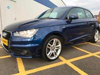2011 AUDI A1 1.6 TDI S Line 3dr GBP0 road tax for year,LEATHER, AUX