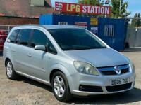 xz * 2006 VAUXHALL ZAFIRA 1.6L 7 SEATER + LPG GAS CONVERTED + 76K MILES *