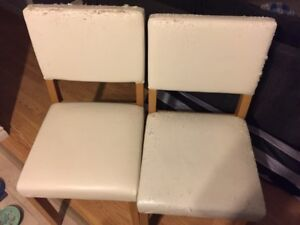 Two chairs for reupholstering