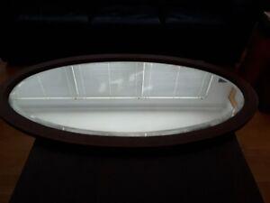 Miroir Oval Biseauté Antique