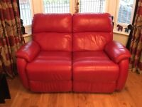 Sofa two red leather