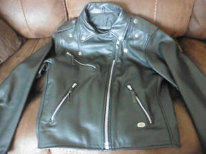 Woman's Small Harley Davidson Genuine Black Leather Coat