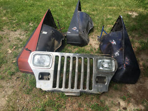 Jeep Wrangler YJ Fenders and Front Grill Assembly