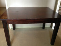 Solid Wood Dining Table- Seats 4