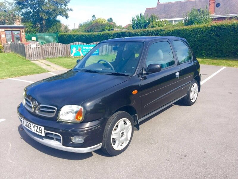 nissan micra 1 0 twister 2002 02 reg black 3 door pas air con 2 keys 1 owner from new in. Black Bedroom Furniture Sets. Home Design Ideas