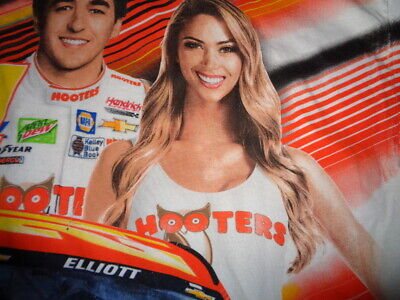 CHASE ELLIOTT HOOTERS Girl 24 Car T Shirt - Men's Large - Double sided graphic