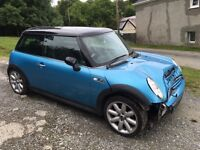 Mini Cooper s supercharged damaged cheap !