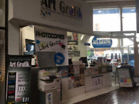 Commerce å vendre, infographie et centre de Photocopies