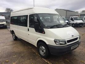 2005 05 REG FORD TRANSIT 2.4 td 350 LWB 15 SEATER MINIBUS 1 OWNER FROM NEW