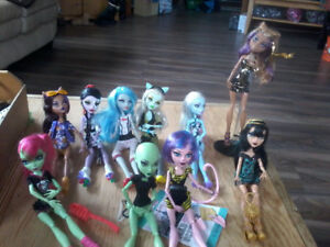 Monster high dolls boys and girls hurry $15.00 each