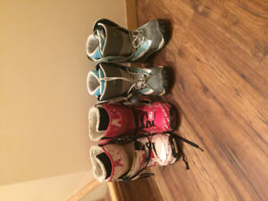 Men's and women's snowboarding boots