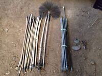 Chimney brush and drain rods