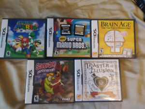 NINTENDO DS GAMES - POKEMON - MARIO