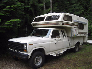 '81 Ford F250 4X4 and '86 Bigfoot Camper