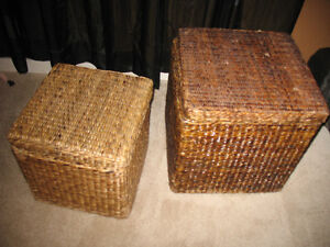 2 wicker boxes (med and small) - good for toy storage