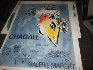 Gallerie Maeght - Vintage Marc Chagall Poster (ART)