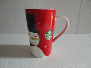 Starbucks tall snowman coffee mug 2012 limited edition NEW