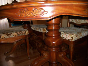 DINING TABLE AND BUFFET AND HUTCH