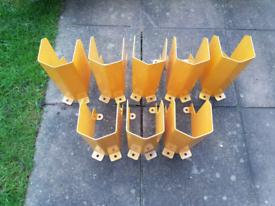 Racking protection column leg guards x 8