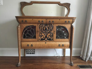 Antique Oak Sideboard Buffet ca. 1900 Perfect Condition