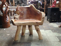 Chaise bois teck massif Indonesie / Teak wood chair Indonesia