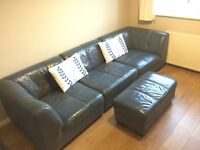 Leather Sofa 4 piece for sale Bearsden.