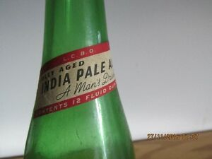 + Labatts India Pale Ale Botte + Green Glass + London Ontario image 3