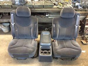 Bucket seats with console 04 gmc truck