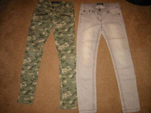 Girl Size 12 Pants and Zip Up Shirts