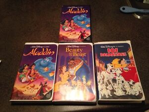 Aladdin, Beauty and the Beast & 101 Dalmatians VHS