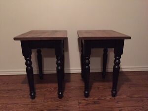 Reclaimed wood.    End tables.