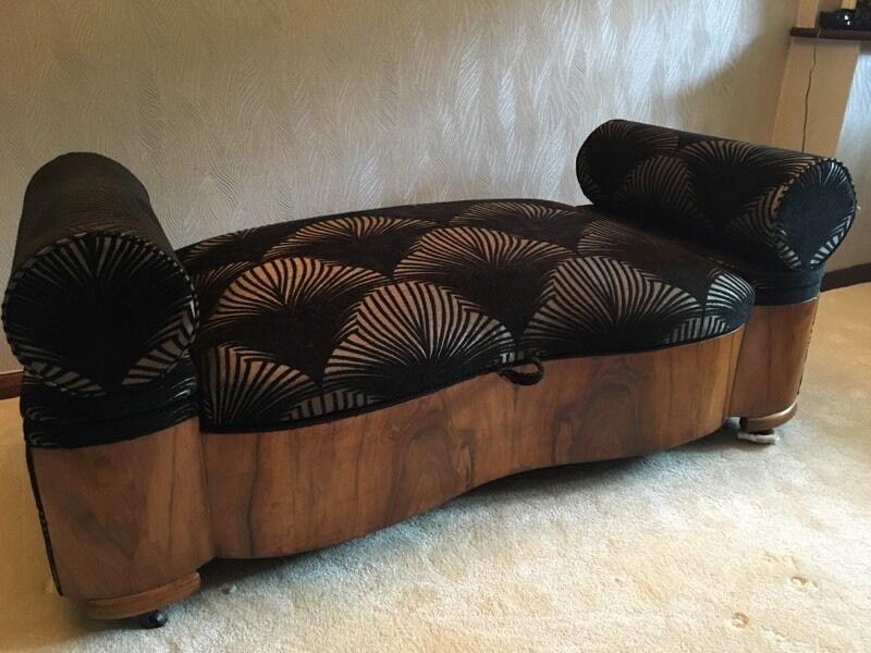 Original Art Deco Sofa Day Bed Storage