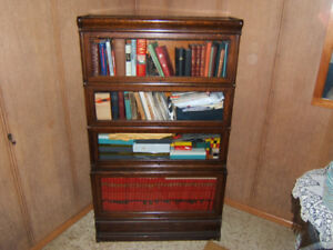 Antique Oak Lawyers bookcase.