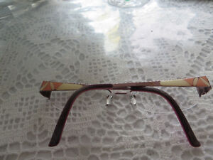 Pink armed glasses frames euc Prince George British Columbia image 1