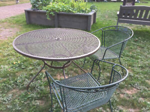 Patio Table and Chairs - Metal