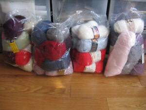 4 small bags of yarn