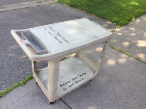 Heavy Duty Plastic service cart with 2 shelves