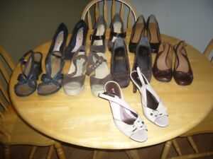 8 pairs of women's shoes, size 9