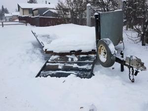 21 ft v-nose 4 place sled trailer
