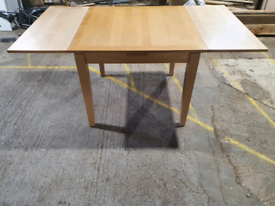 EXTENDABLE BEECH WOOD DINNING TABLE, FREE DELIVERY