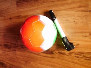 BRAND NEW Hand made SOCCER BALL w pump and inflating needle