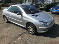 2004 / 04 Peugeot 206 1.6 16v Quicksilver 2005 MY Coupe Cabriolet Quicksilver