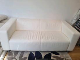 2/3 cream sofa