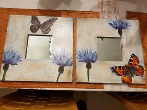 Hand made 2 decorative mirrors.