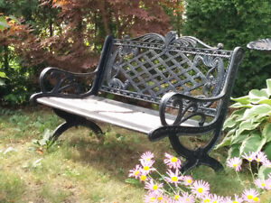 Beautiful wrought iron garden bench Gatineau Ottawa / Gatineau Area image 1
